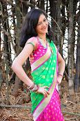 Pujitha sizzling in half saree-thumbnail-4