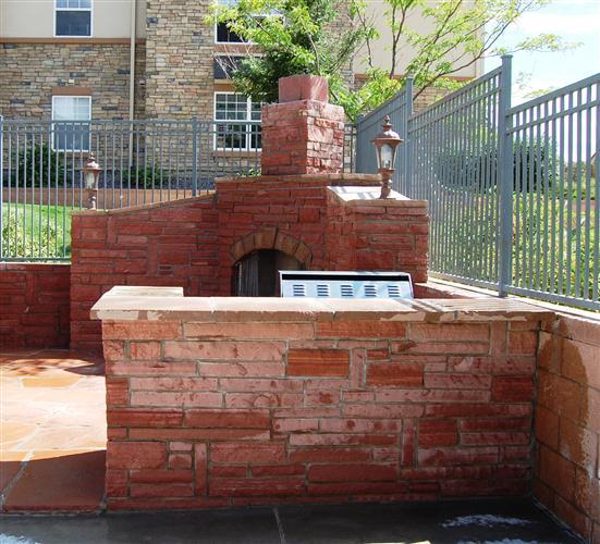 Brick Built In Bbq2