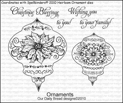 "ODBD ""Ornaments"" Set Coordinates with 2010 Spellbinders Heirloom Ornament Dies"