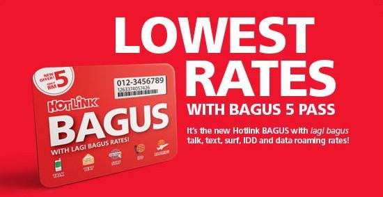 Pelan Prabayar Baru Hotlink BAGUS