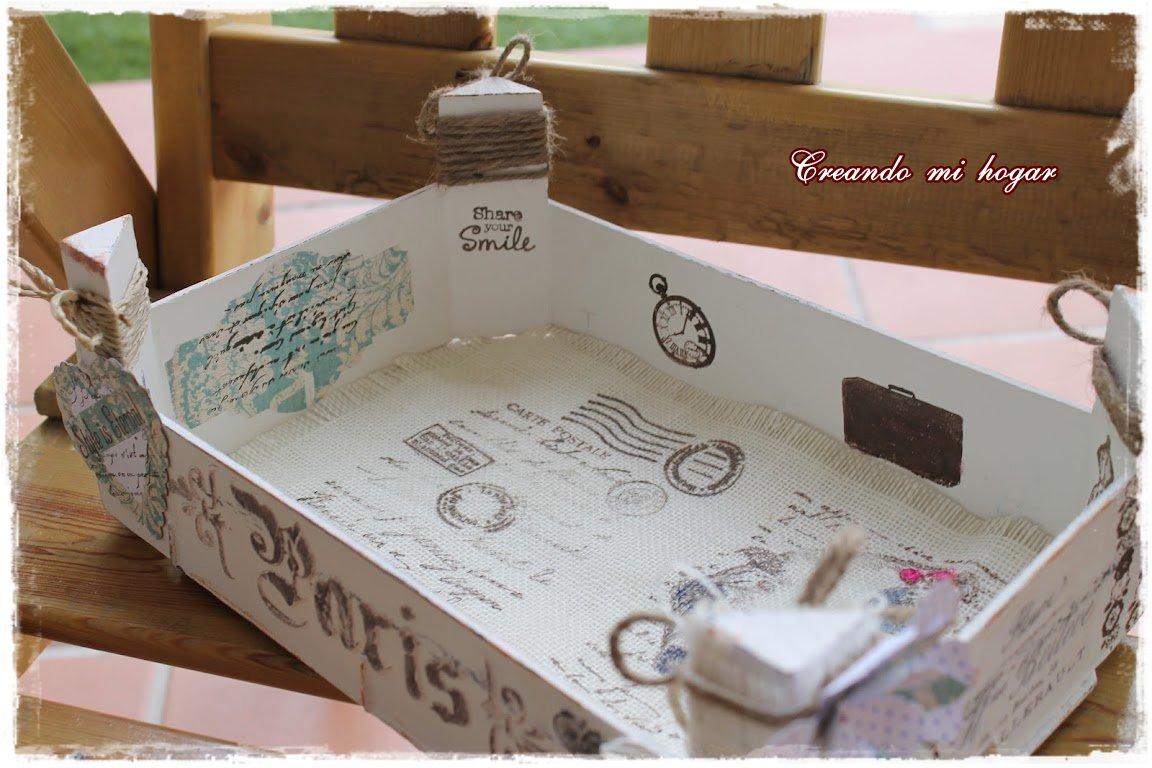 Creando mi hogar primera caja de fresas - Decorar una caja de fruta ...