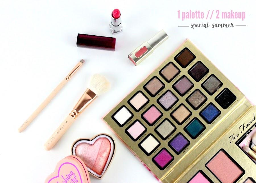 1 palette 2 makeup #2 | Spécial summer ! julieetsesfutilites.blogspot.fr