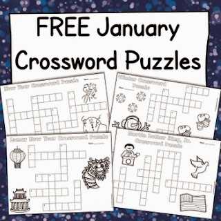 http://www.teacherspayteachers.com/Product/Free-January-Crossword-Puzzles-New-Year-Winter-Martin-Luther-King-Jr-More-1037257