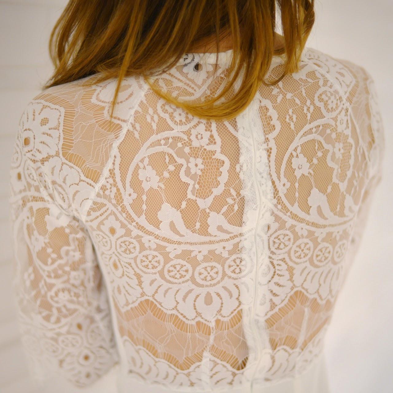 Lace Raglan Sleeve Dress