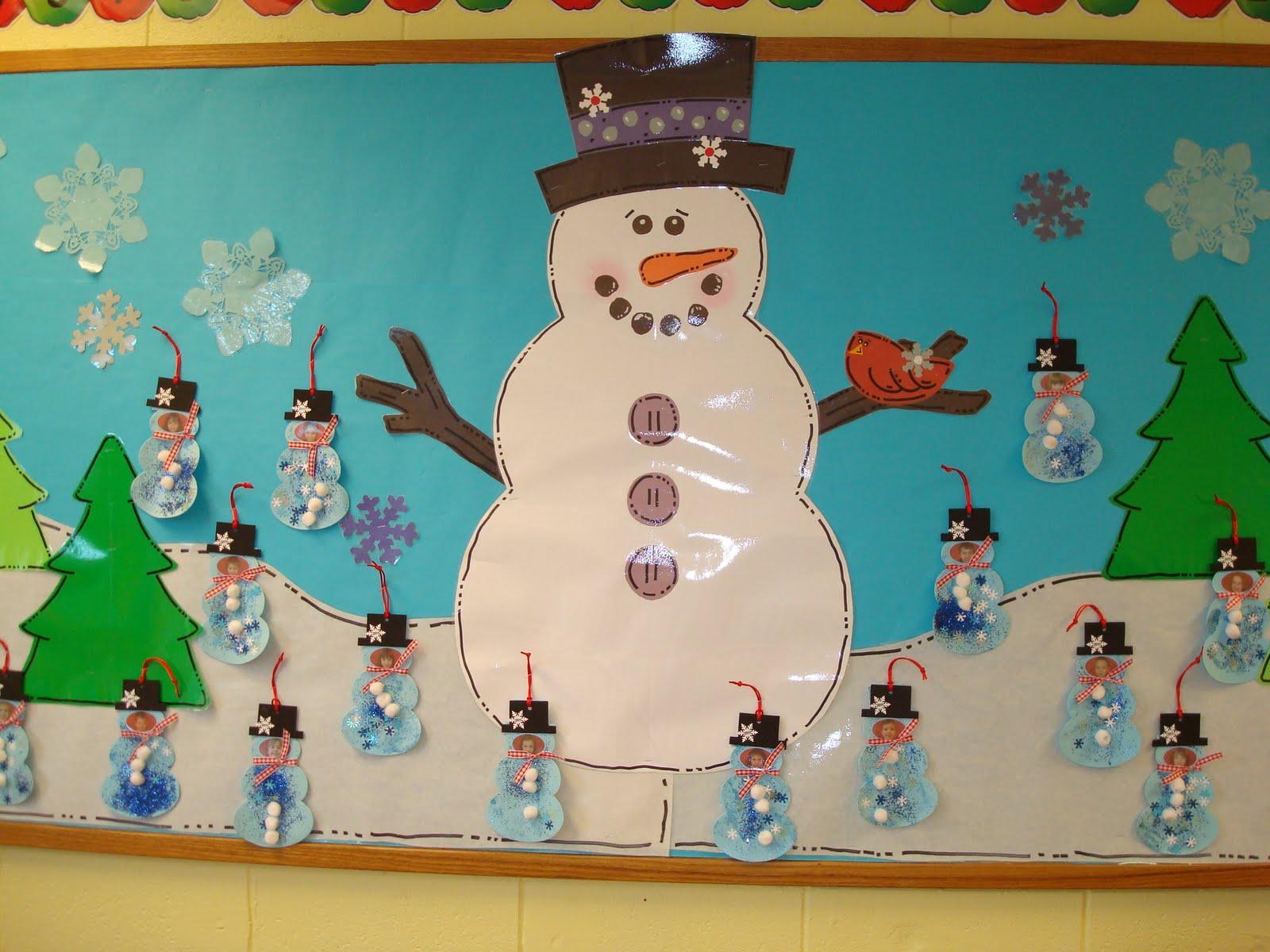 Trinity Preschool Mount Prospect Snowman and Christmas  ~ 181226_Christmas Decoration Ideas For Preschool Classroom