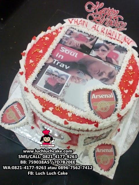 Kue Tart Foto Tema Arsenal Daerah Surabaya - Sidoarjo