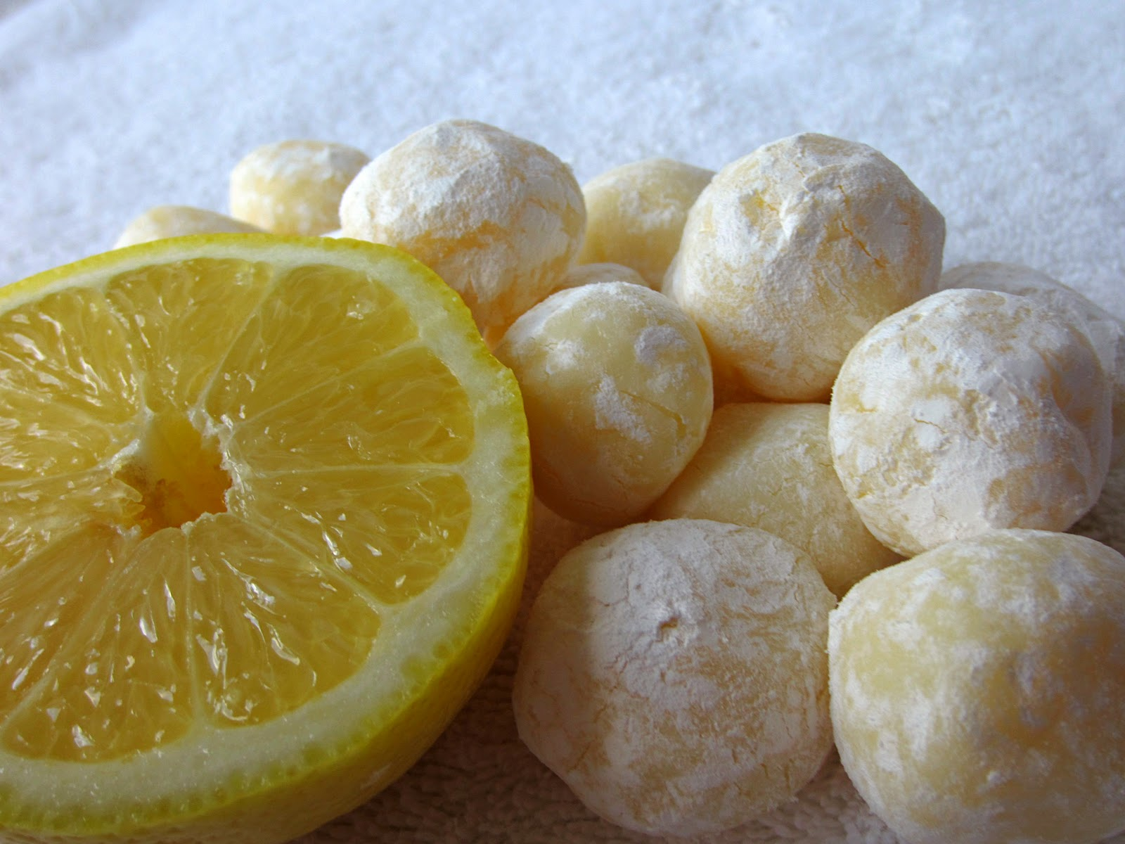 Sugarcoated White Chocolate Lemon Truffles