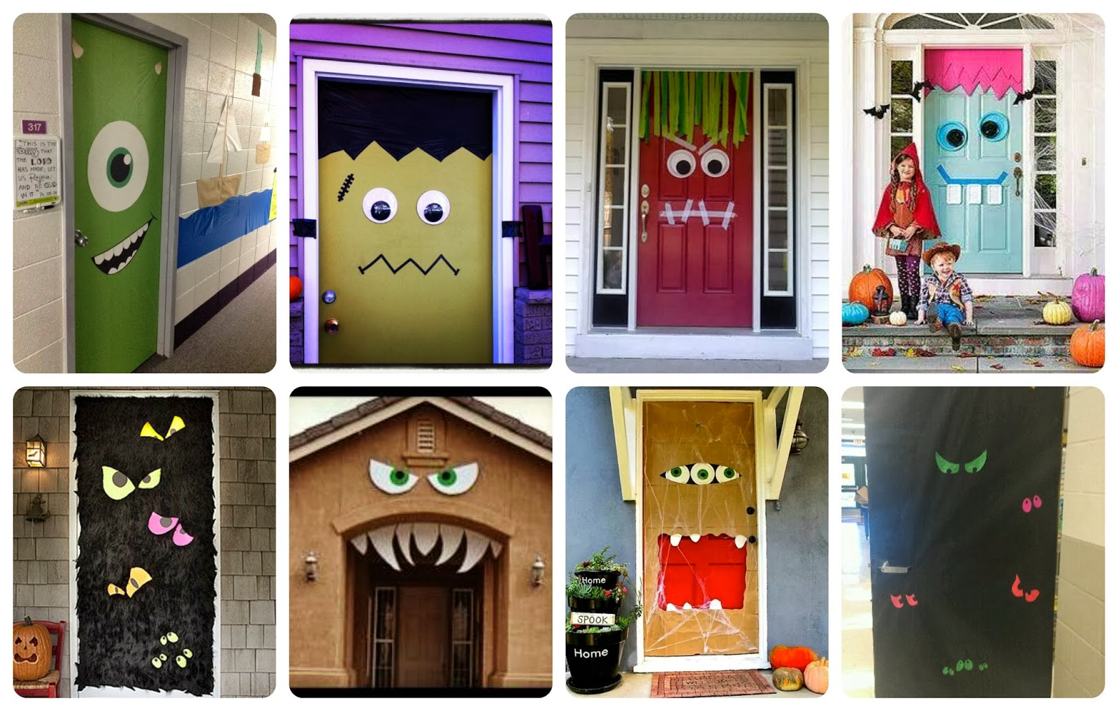 Recursos ideas para decorar en halloween lluvia de ideas for Adornos para puertas