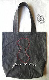 Ecobag Bordada Silhueta Jane Austen