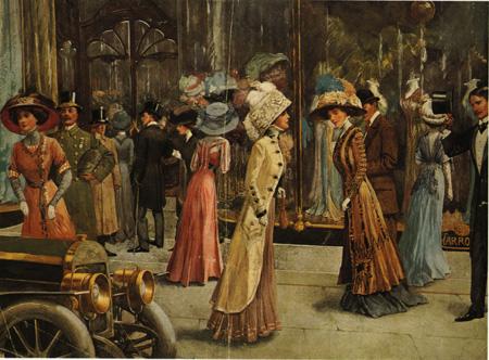 High society, fashion, Belle Epoque