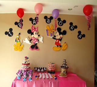 Eventos para tu beb decoraci n cumplea os con la for Mesa de cumpleanos de mickey