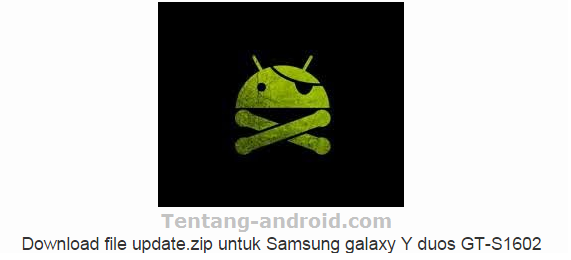 File update.zip for Samsung galaxy Young duos GT-S1602