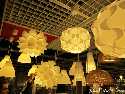 ikea light, hanging light, iq light, ikea store, lighting, plastic, white