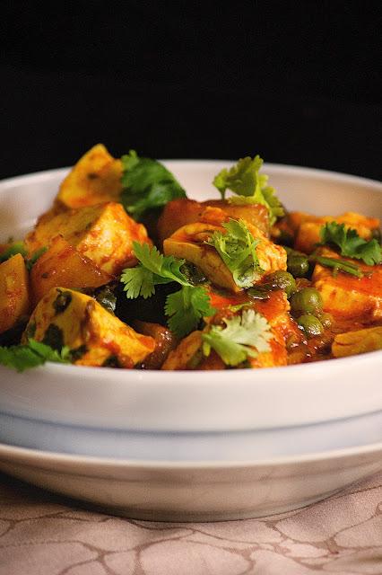 bengali style matar paneer recipe
