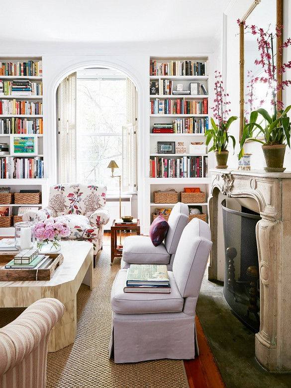 How Beautiful Are Those Upholstered Slipper Chairs? Iu0027m Sure They Are Billy  Baldwin. And, The Club Chair Upholstered In Quadrilleu0027s Jardin Des Plantes,  ...