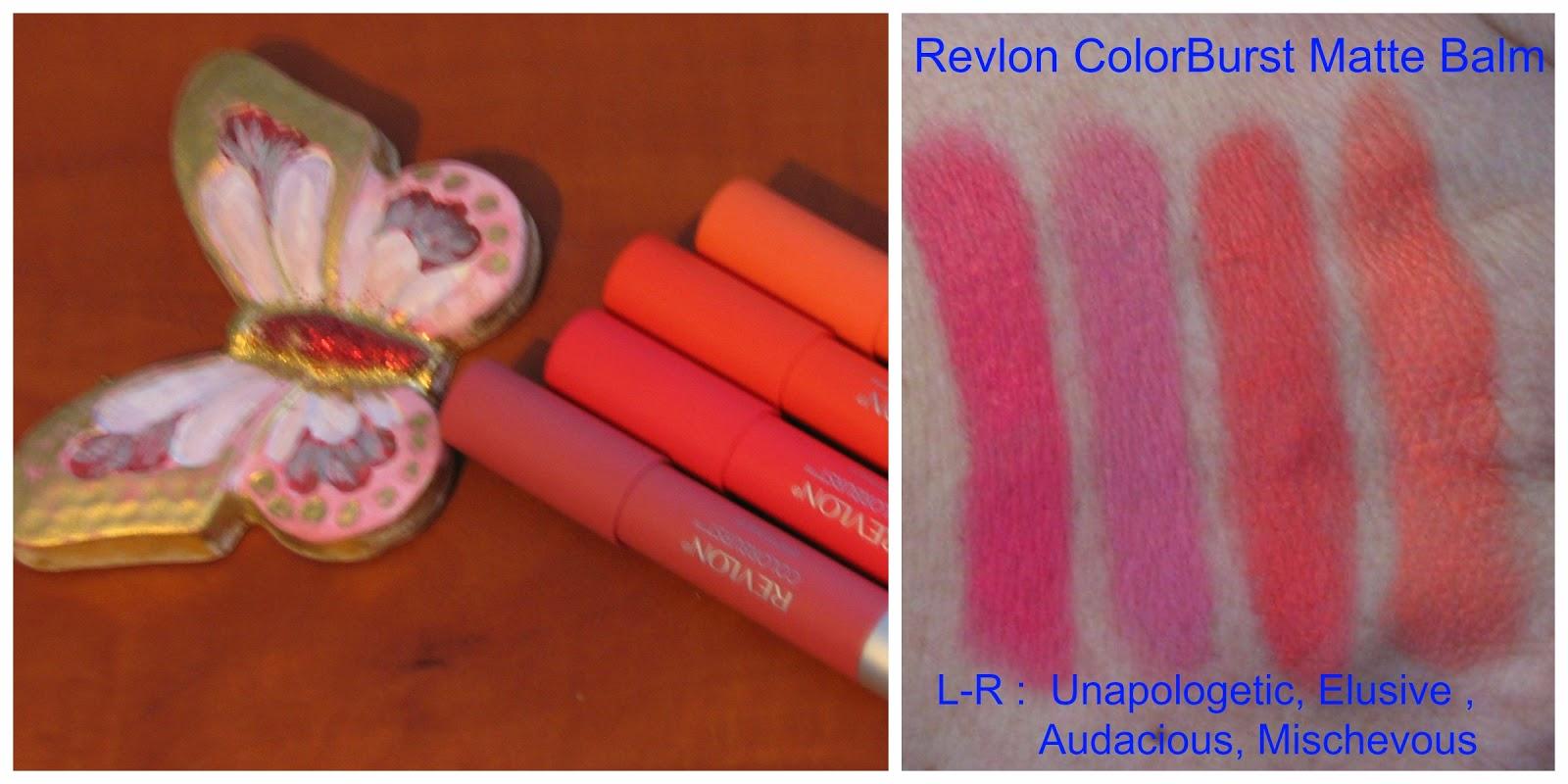 Matte Velvety Lips Revlon Colorburst Balms Swatches Collorbust Balm