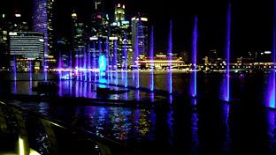 Tarian Air di Marina Bay Singapura