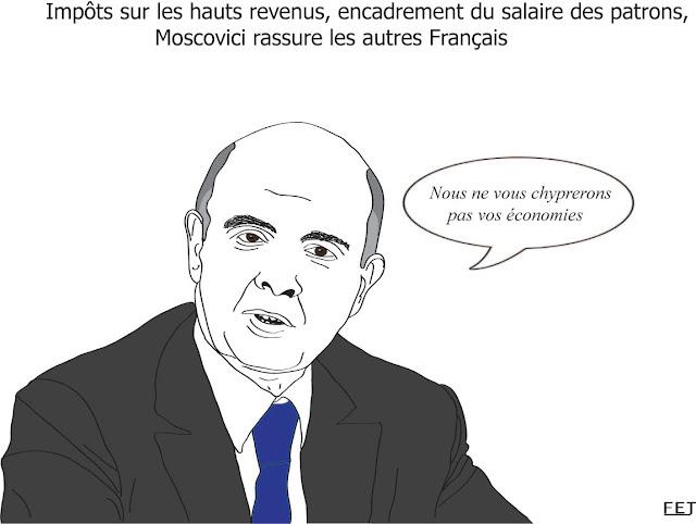 Moscovici, salaire des patrons, impôts sur les revenus, épargnants