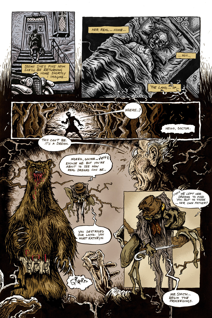 eagle awards nominee land-of-all-sorts bear attack comic