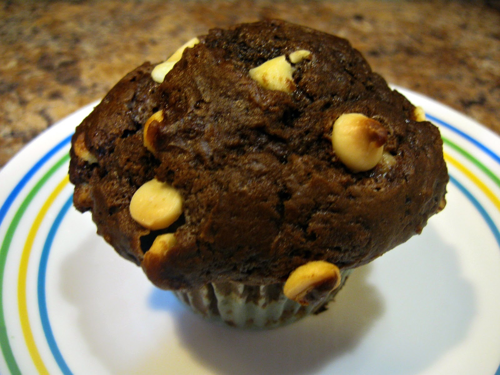 THE REHOMESTEADERS: White Chocolate Chip Cocoa Banana Muffins