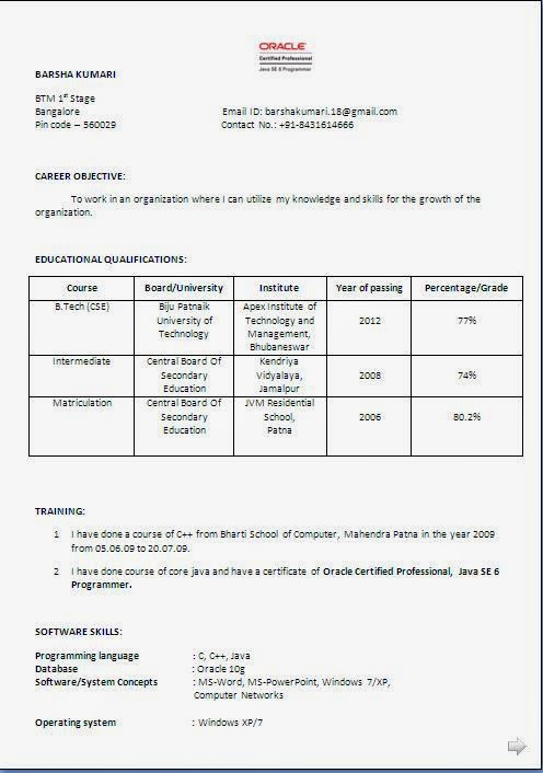 resume resume format doc for fresher 12th pass blank cv download resume format - Resume Samples 12th Pass Student