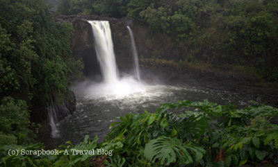 Hawaii Big island wailuku river state park Rainbow Falls