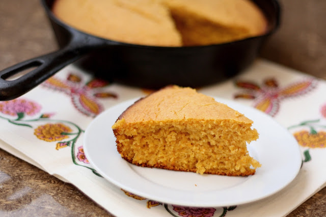 Roasted Sweet Potato and Spice Cornbread recipe by Barefeet In The Kitchen