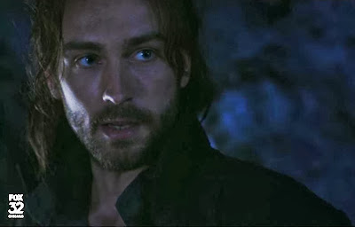 Handsome Ichabod Tom Mison Sleepy Hollow dark cave screencaps