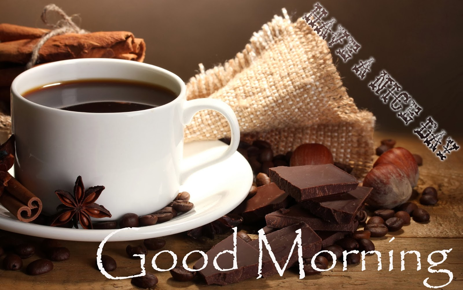 Good-Morning-Coffee-With-Chocolate-Image-HD-Wide