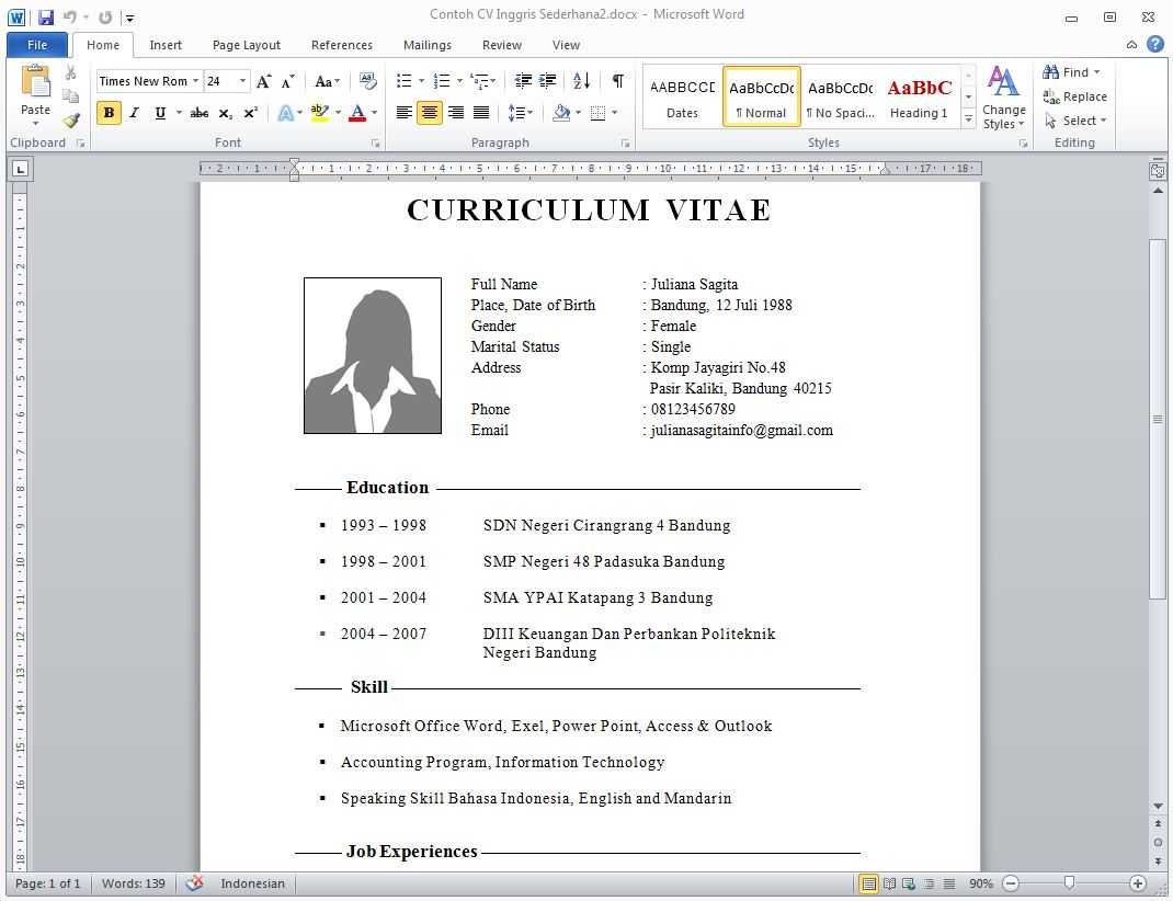 do i need a resume for a fast food senior business