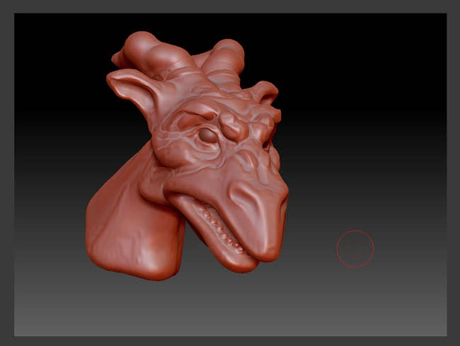 Horned Green Dragon WIP #4