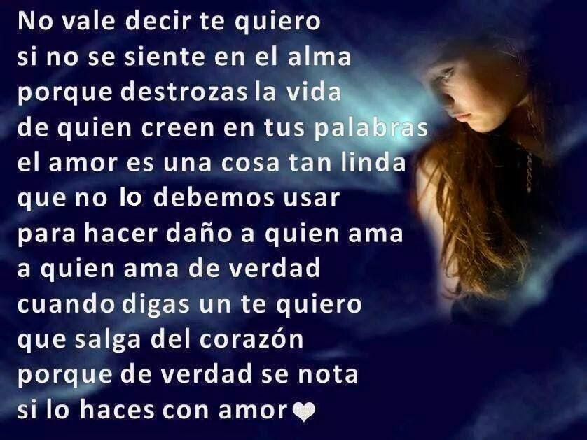 Frases de desamor, te quiero, alma,vida,palabras,amor,linda.