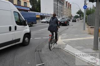 "Stresemannstraße / Kieler Straße - Neuer ""Radweg"""