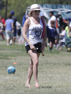 Leann Rimes Pictures in Shorts at a Soccer Game in Los Angeles 0006