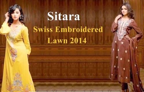 Sitara Swiss Lawn 2014