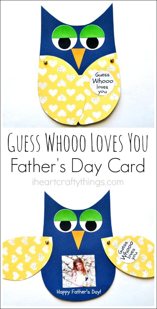 Kids Craft DIY Fathers Day Card