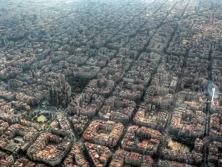 aerial photography - Barcelona Spain