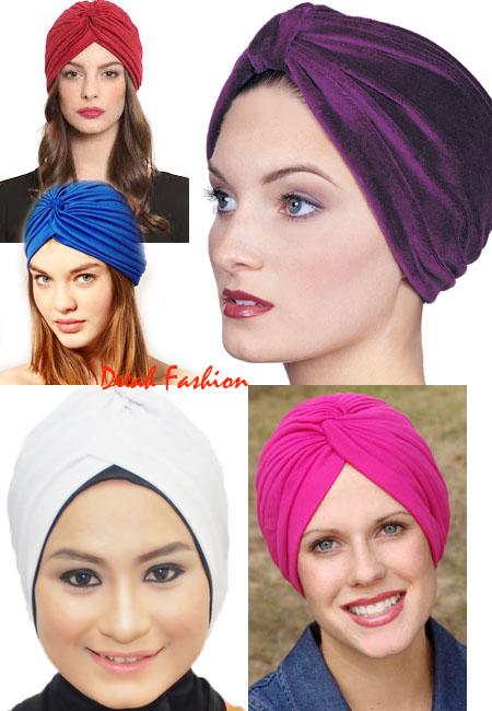 Trend Jilbab Turban Metalik Gypsy