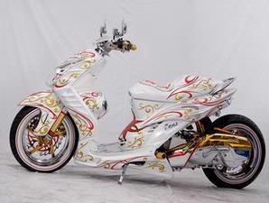 foto gambar modifikasi Yamaha Mio Soul