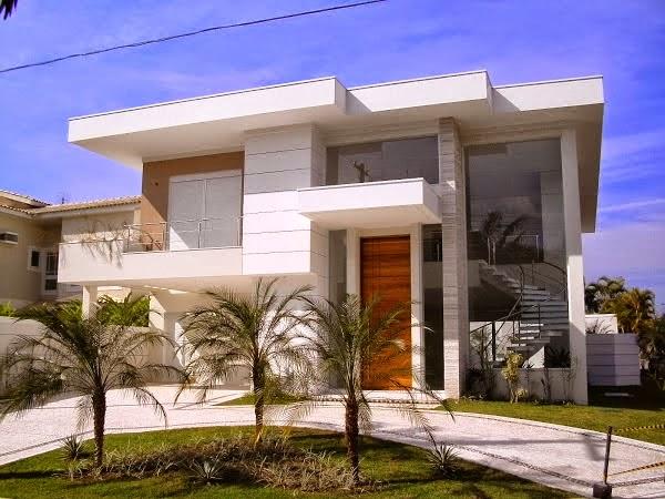 20 fachadas de casas modernas com linhas retas veja for Fachadas de entradas de casas