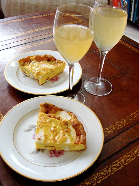 Brunch Frittata and Preseco Bellinis