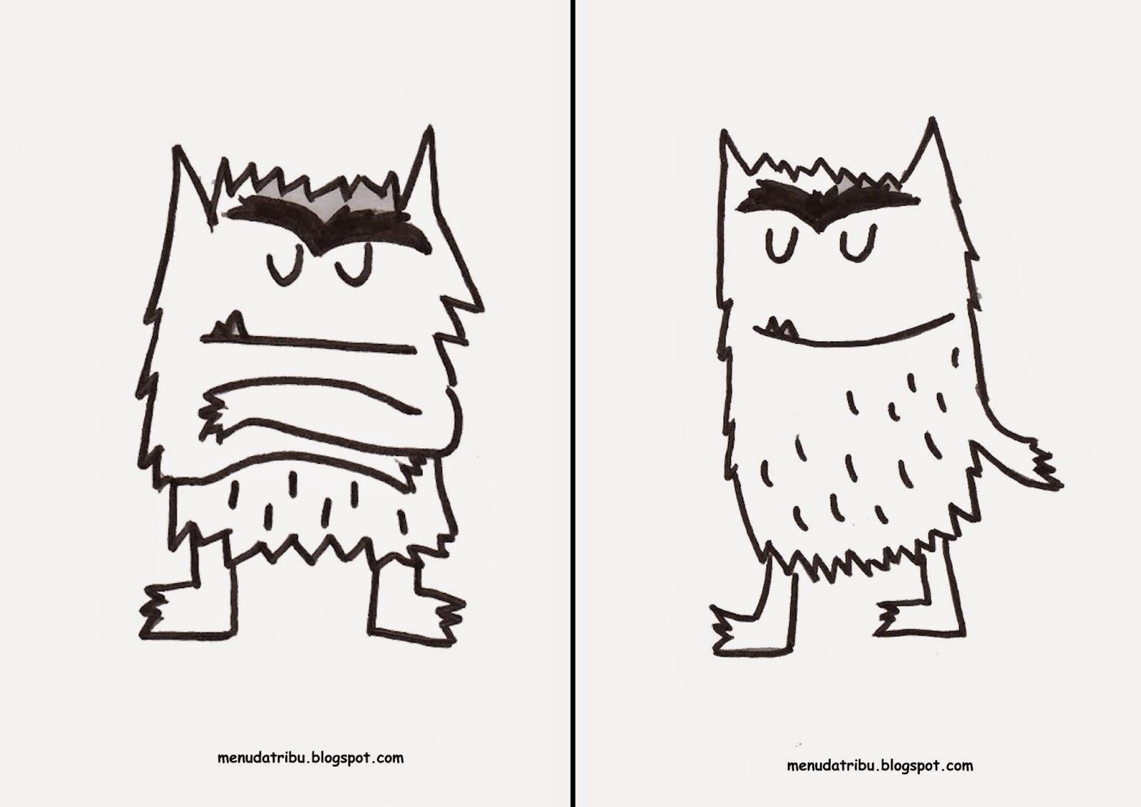 Único Monstruo Para Colorear Imprimible Motivo - Dibujos de Animales ...