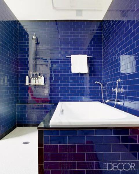 Baby green monday color indigo for Elle decor bathroom ideas