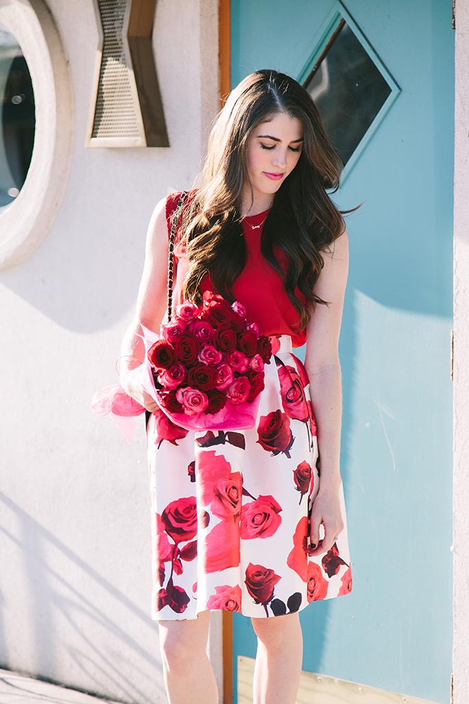 chic-wish-rose-print-midi-skirt