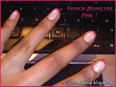 French Manucure Pink & Glitter