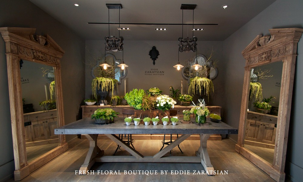 Eddie zaratsian opens fresh flower boutique in restoration for Home design restoration