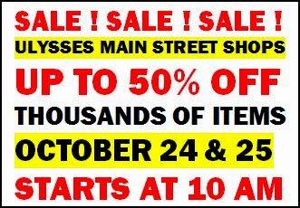 10-24/25 Ulysses Main Street Sale