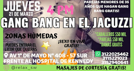 JUEVES 21 DE MARZO DE 4 PM A 11 PM SHOW DE MASTURBACION EN VIVO CON SEXYS CHICAS Y PAREJAS SW