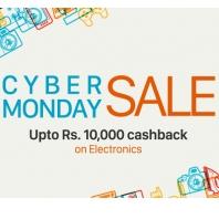 Paytm Cyber Monday Sale : Upto Rs. 10,000 Cashback on Electronics :Buytoearn
