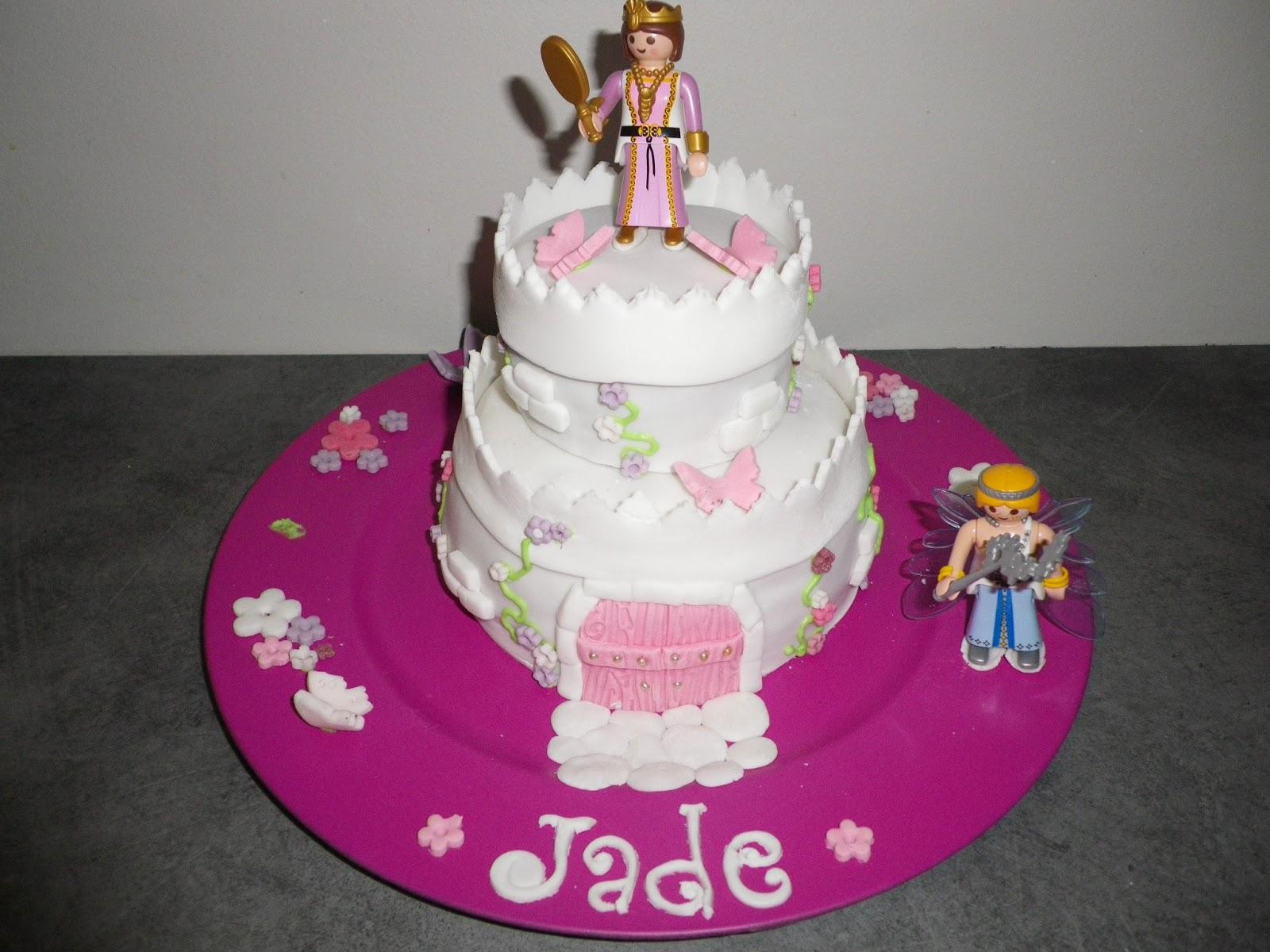 La boîte à gâteaux Grenoble: Pour une petite fan de playmobil !!!